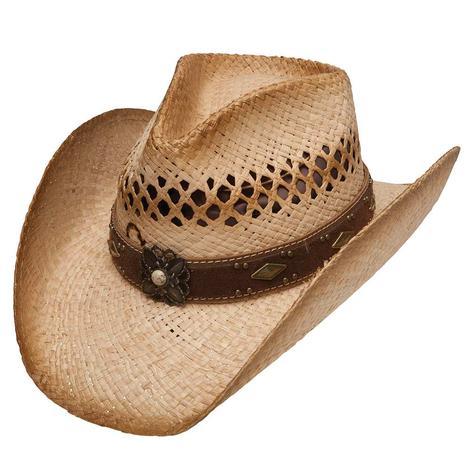 Destin Raffia Straw Cowboy Hat Charlie 1 Horse