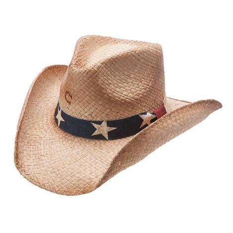 Charlie 1 Horse Stars & Stripes Straw Cowboy Hat