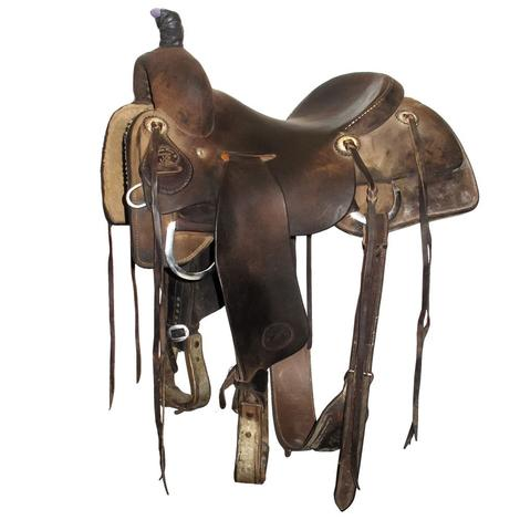 Sulpher River Saddlery 15in Roughout Ranch Cutter Used Saddle