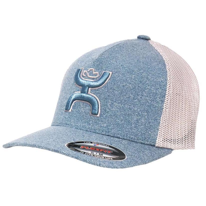 Hooey Coach Light Blue & Grey Flexfit Ball Cap
