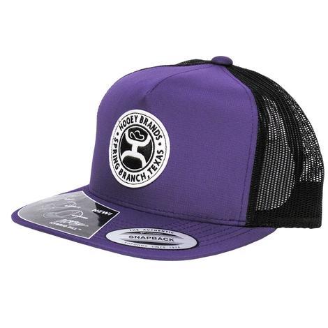 HOOey Guadalupe Purple & Black Mesh Cap
