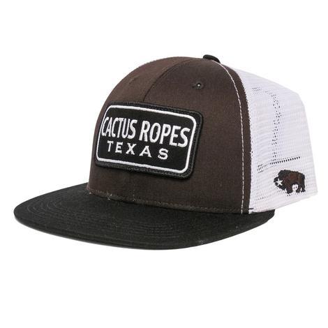 Hooey Cactus Ropes Black & White Cap