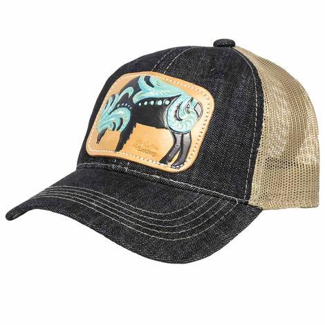 STT Womens Denim Turquoise Buffalo Cap