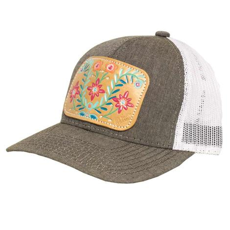 Heather Brown Spring Fiesta Meshback Cap