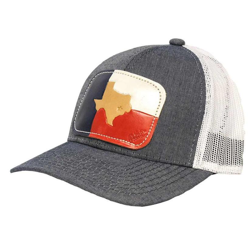 Stt Star On Brenham Texas Denim Mesh Back Cap