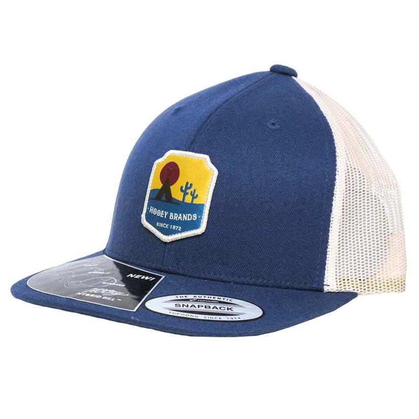 Hooey Teepee Shield Blue & Cream Cap