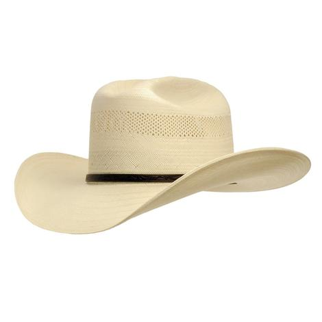 Resistol Cross Tie Vented Straw Western Cowboy Hat