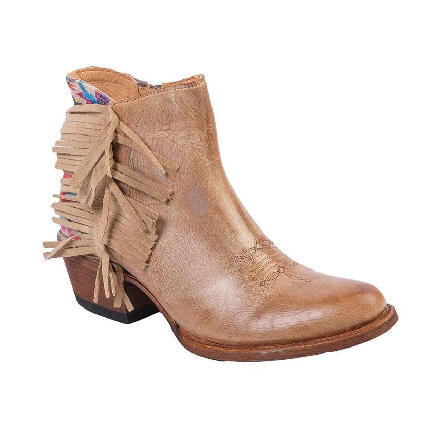 Macie Bean Womens Me Otomi My Tan Fringe Shortie Boot