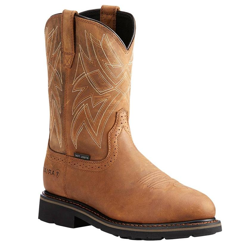 Ariat Mens Sierra Everett Waterproof Steel Toe Work Boots