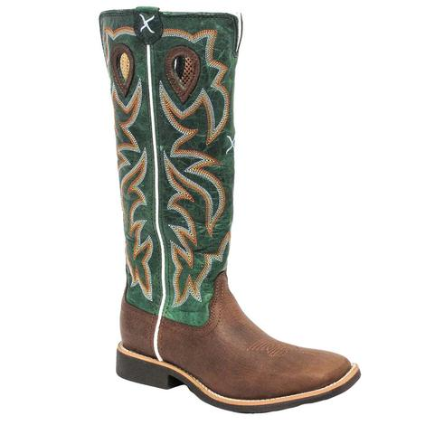 Twisted X Youth Buckaroo Cognac & Turquoise Cowboy Boots