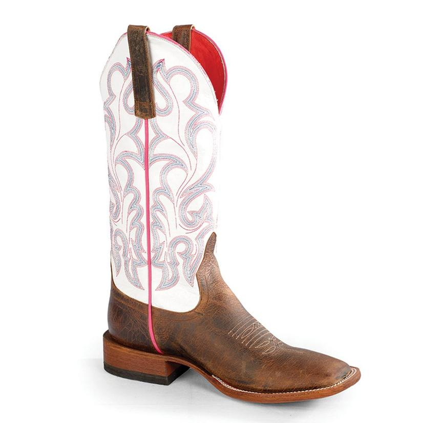 Macie Bean Womens Toast Bison Vanilla Western Boots
