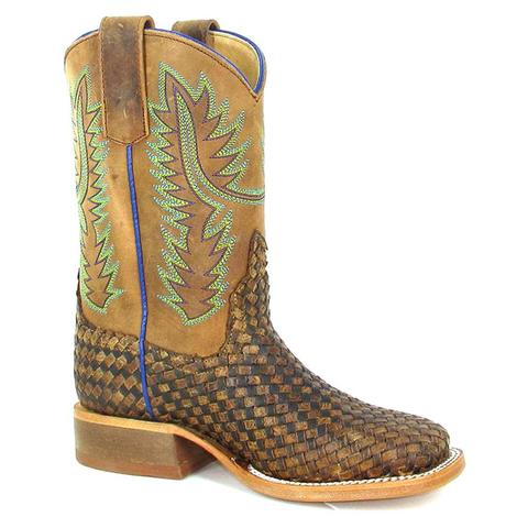 Anderson Bean Youth Unbeweavable Crazyhorse Cowboy Boots