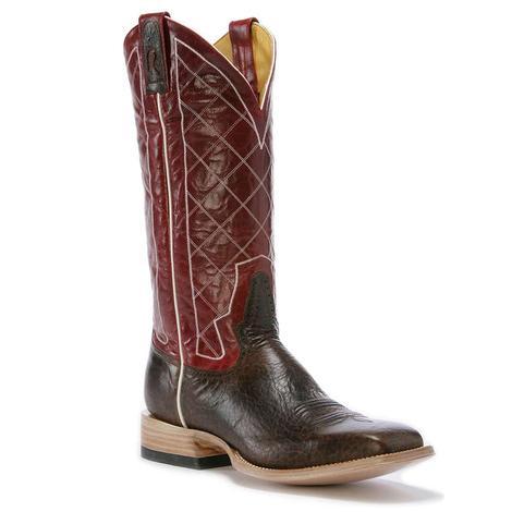 Rod Patrick Mens Antique Mocha Bison Cowboy Boot