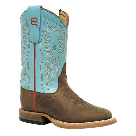 Anderson Bean Kids Turquoise Wave Bone Mad Dog Boot