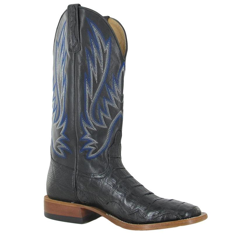 Horsepower Mens Black Caimen Cowboy Boots