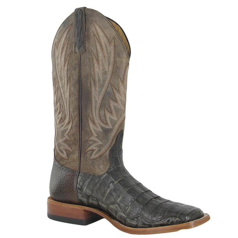 Horsepower Mens Chocolate Genuine Caiman Western Boots