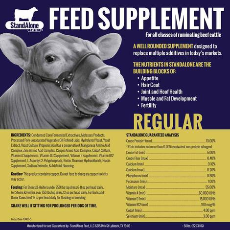 StandAlone Cattle Regular Feed Supplement 2.5 gal