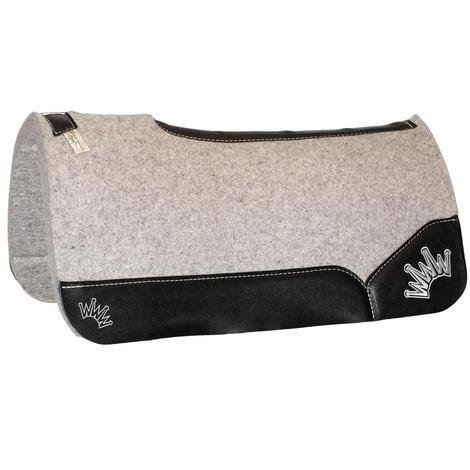 Kush Black Wool Saddle Pad 1x30x30