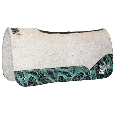 Kush Jade Feather Wool Saddle Pad 3/4x30x30