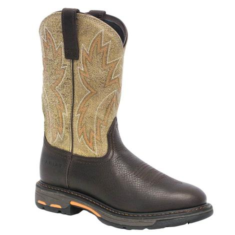 Ariat Mens Workhog Raptor Dark Chocolate Soft Toe Work Boot