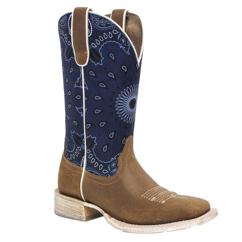 Ariat Womens Circuit Savanna Blue Paisley Print Boots