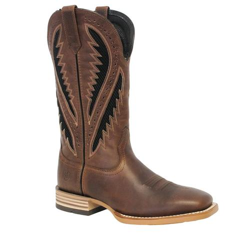 2a348806f82 Mens Gold Buckle Caiman Western Square Toe Boot