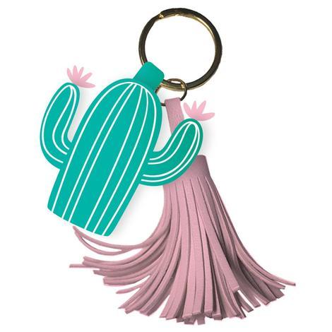 Cactus Tassle Keychain