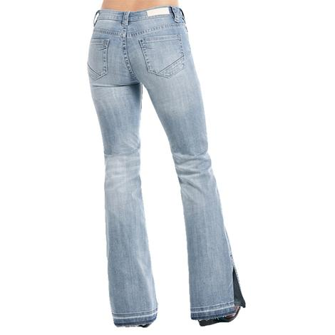Rock and Roll Cowgirl Light Vintage High Rise Trouser Jeans