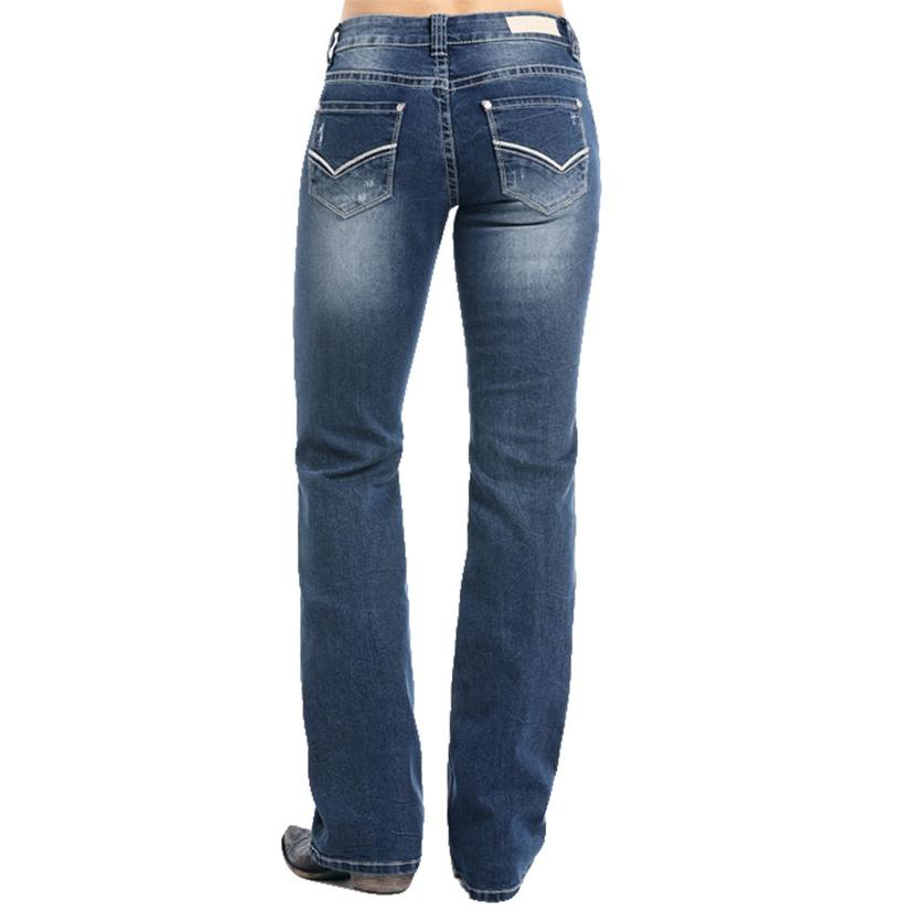 Rock And Roll Cowgirl Womens Medium Vintage Extra Stretch Riding Jeans