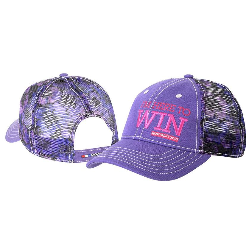 Classic Rope Adjustable Purple Pink Mesh Back Cap