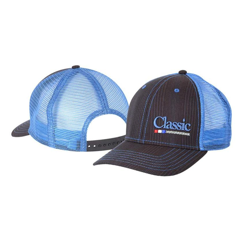 Classic Rope Black And Blue Meshback Cap