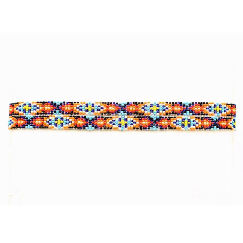 Beaded Aztec Style Hat Band