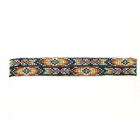 Beaded Multi Colored Hat Band