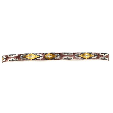 Western Southwest Beaded Stretch Hat Band