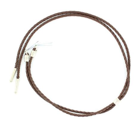 Black or Brown Braided Leather Stampede String
