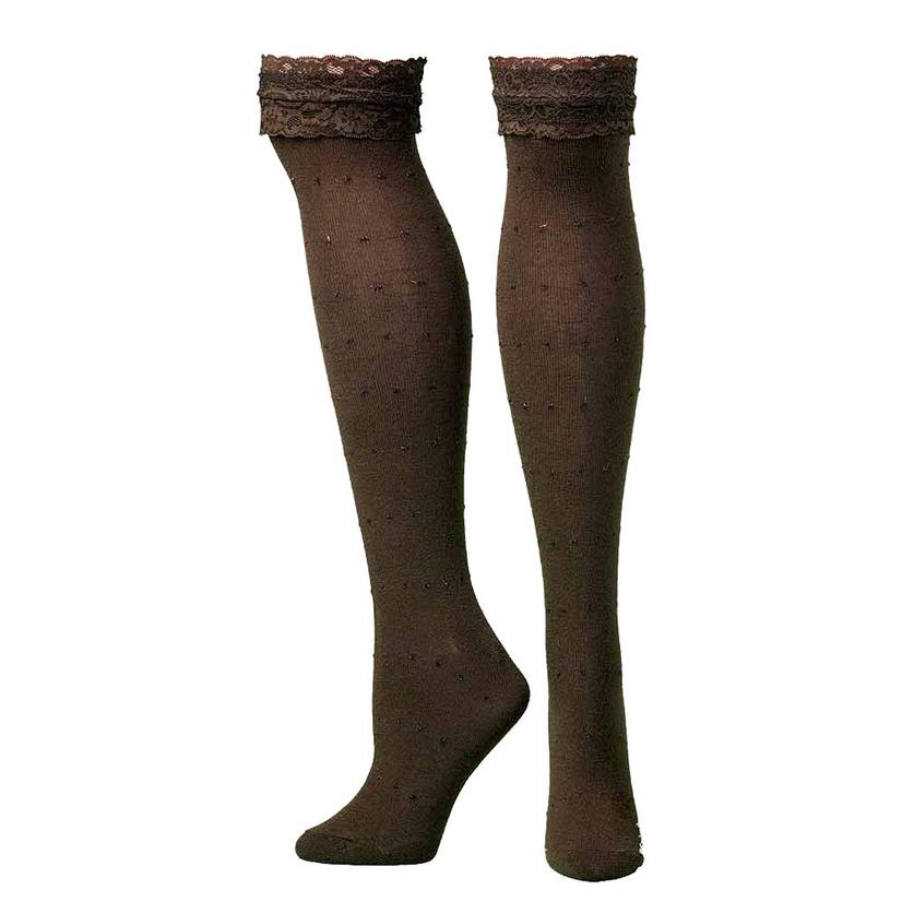 Blazin Roxx Brown Knee Length Socks