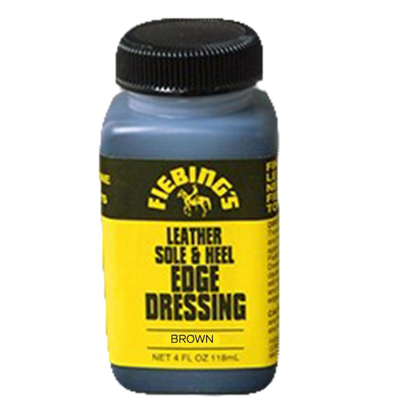 Fiebings Sole And Heel Edge Dressing - Brown 4oz