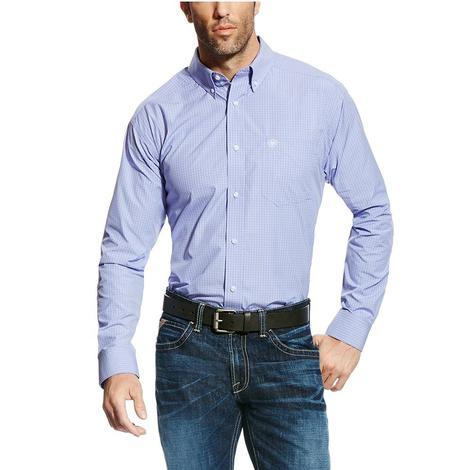 Ariat Mens Pro Series Edison Azulene Long Sleeve Button Down Shirt