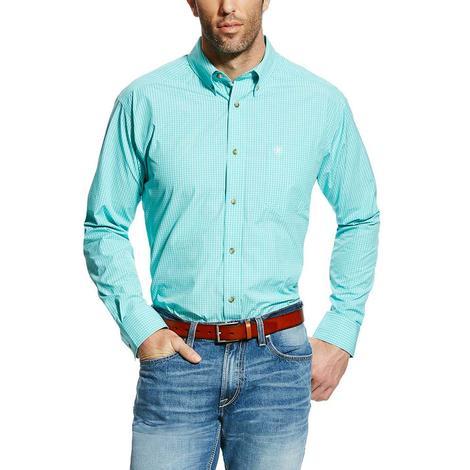Ariat Mens Pro Series Edinburg Checkered Plaid Long Sleeve Western Shirt