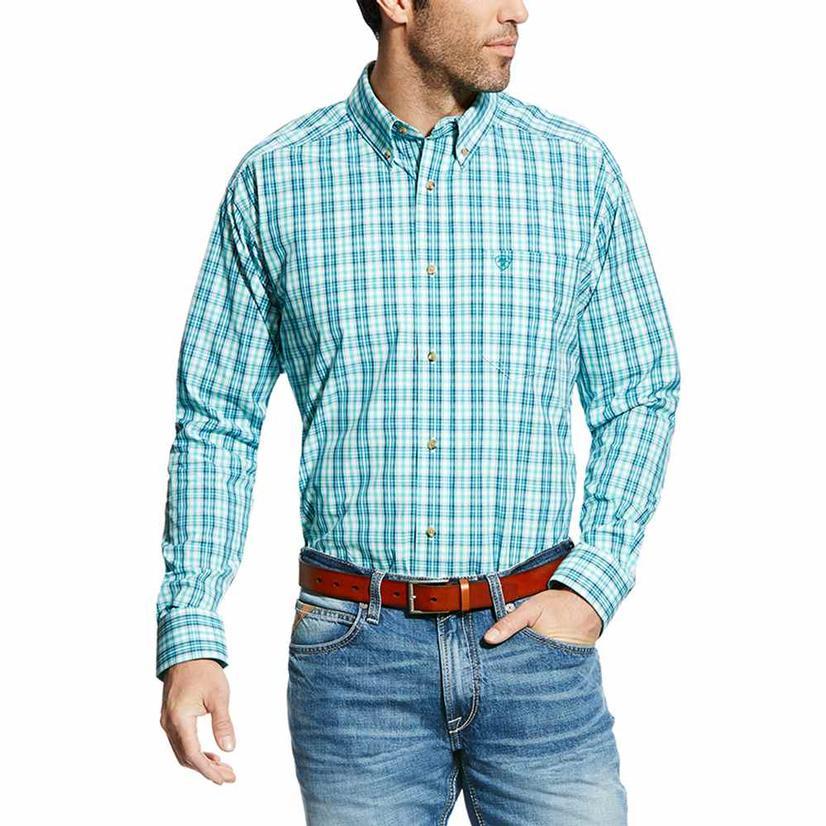 Ariat Mens Pro Series Ellis Plaid Classic Button Down Shirt