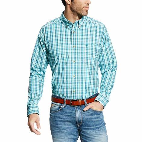 Ariat Mens Pro Series Ellis Plaid Classic Button Down Shirt