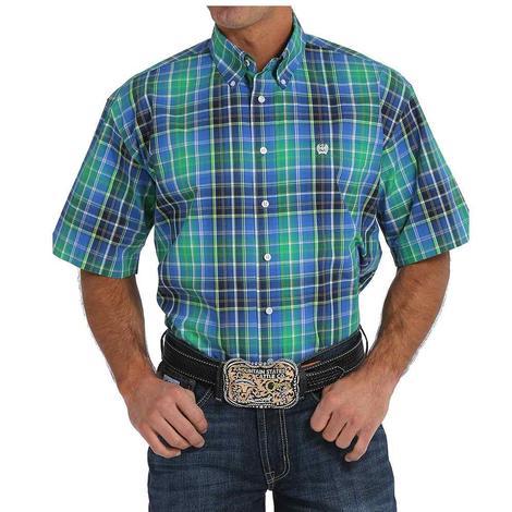 Cinch Mens Short Sleeve Plaid Multi Color Western Shirt