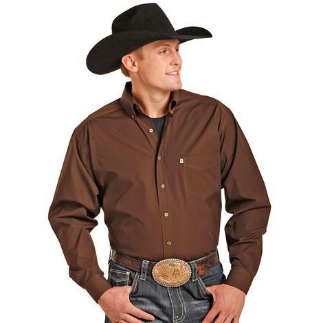 Rock & Roll Cowboy Burgundy Long Sleeve Shirt