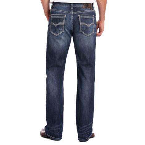 Rock & Roll Cowboy Mens Double Barrel Reflex Straight Leg Dublin Jeans
