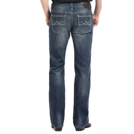 Rock and Roll Cowboy Mens Pistol Straight Leg Reflex Dark Vintage Jeans