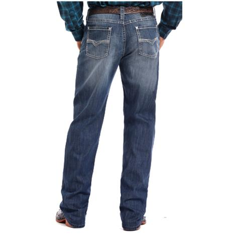 Rock and Roll Cowboy Mens Competition Fit Reflex Medium Wash Jeans