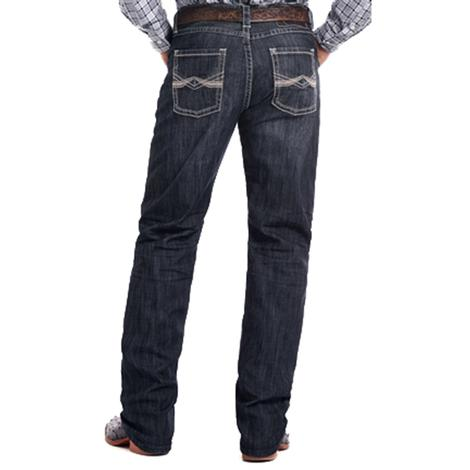 Rock & Roll Cowboy Mens Competition Dark Wash Reflex Jeans