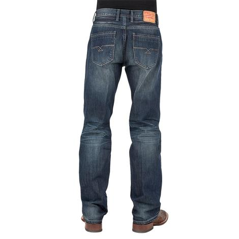 Stetson Mens Modern Fit 1312 Low Rise Jeans