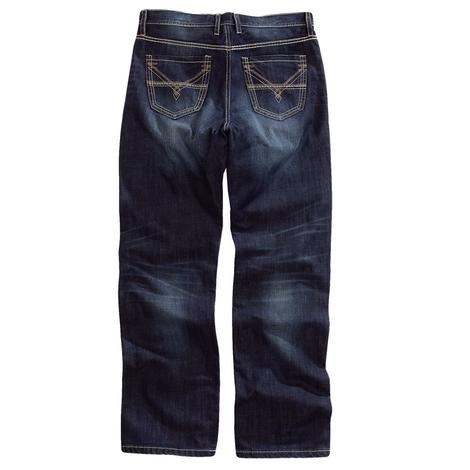 Tin Haul Mens Regular Fit Western Loop Back Jeans