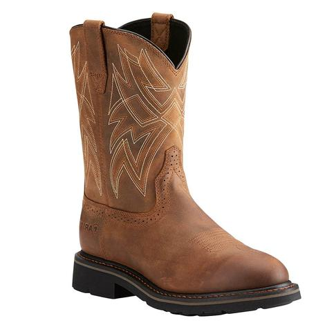 Ariat Mens Everett Soft Round Toe Brown Work Boot